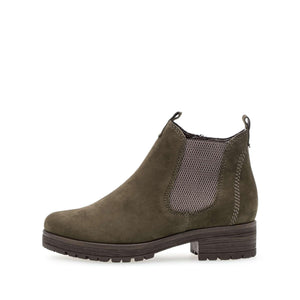 Gabor 32.091.33 Olive Nubuck Leather Ankle Boots - elevate your sole