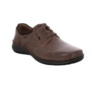 Josef Seibel Anvers 36 Moro Brown Mens Leather Lace Up Shoes - elevate your sole