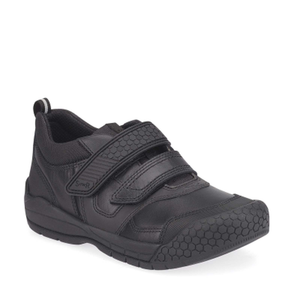 Start-Rite Strike 2793-7 Boys Black Leather Rip Tape Shoes - elevate your sole