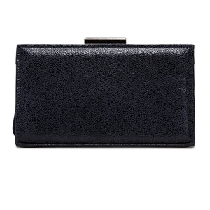 Van Dal Zinnia Midnight Crackle Print Leather Clutch Bag