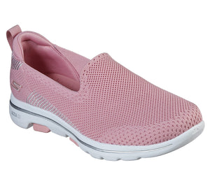 Skechers 15900 Go Walk 5 Prized Light Pink Slip on Shoes - elevate your sole