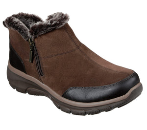 Skechers 49317 Easy Going Ladies Brown Zip Up Boots