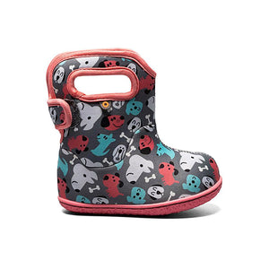 Bogs Baby Puppy Kids Dark Grey Multi Waterproof Wellington Boots