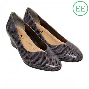 Van Dal Hanover Storm Grey Snake Print EE Fitting - elevate your sole