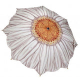 Galleria Umbrella White Daisy Folding Brolly - elevate your sole