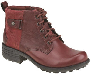 Earth Spirit Paxton 2 Scarlet Leather Ankle Boots