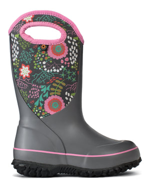 Bogs K Slushie Reef Kids Grey/Multi Waterproof Boots