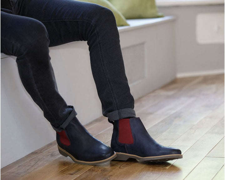 Anatomic Cardoso Vintage Navy Chelsea Boots - elevate your sole