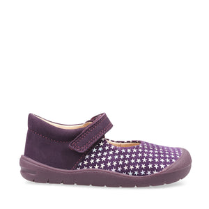 Start-Rite Joy 0768_1 Girls Blackcurrant Nubuck First Shoes