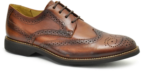 Anatomic Domingos Touch Bronze Brown Brushed Leather Brogue