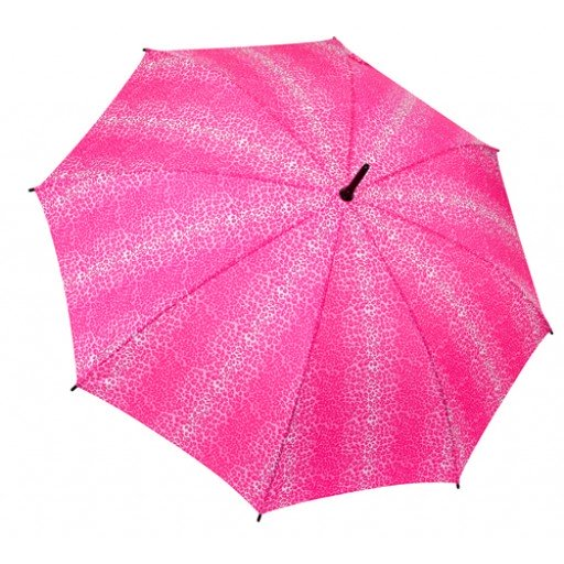Galleria Umbrella Pink Leopard Folding Brolly - elevate your sole