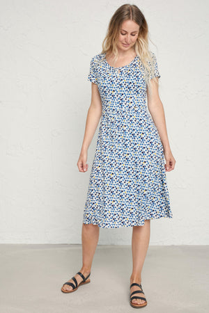 Seasalt Crebawthan Dress Bamboo Inky Bloom Sailor