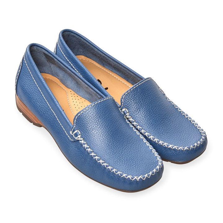 Van Dal Sanson Denim Leather Loafers