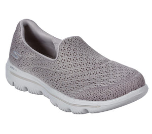 Skechers 15738 Evolution Ultra Taupe Goga Mat Slip On Shoes - elevate your sole