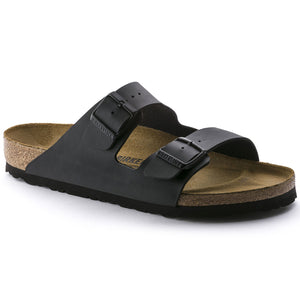Birkenstock 51791 Mens Arizona  BF Black Double Strap Regular Fit Sandals - elevate your sole