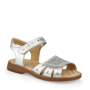 Start-Rite Flutter 5182-5 Girls Silver Leather Summer Sandals F fit - elevate your sole
