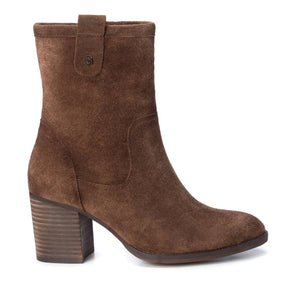 Carmela 66838 Camel Brown Suede Heeled Mid Calf Boots - elevate your sole