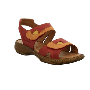 Josef Seibel Debra Ladies Hibiscus Red Kombi Leather Sandals