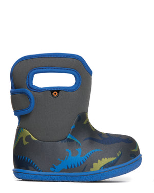 Bogs Baby Bogs Dino Kids Dark Grey Multi Waterproof Boots