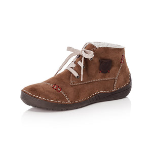 Rieker 52530-24 Ladies Brown Lace Up Ankle Boot