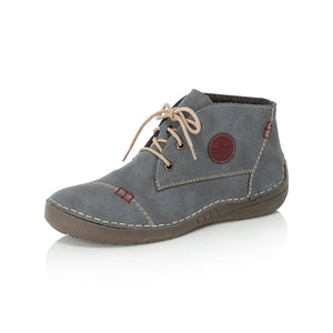 Rieker 52540-14 Ladies Jeans Lace Up Ankle Boot