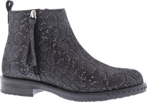 Adesso A5566 Mya Ladies Snake Print Leather Ankle Boots
