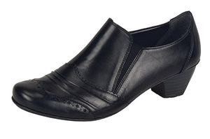 Rieker 41730-00 Black Leather Ladies Trouser Shoe