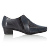 Rieker 53870-14 Ladies Navy Leather Low Heel Trouser Shoes