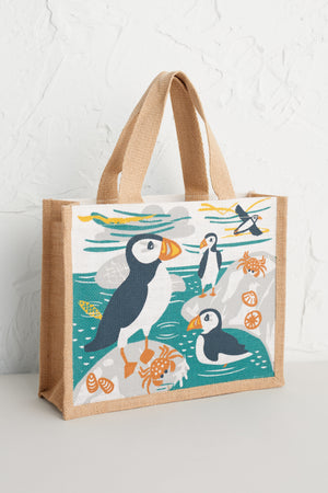 Seasalt Cute Jute Puffin Island Bag