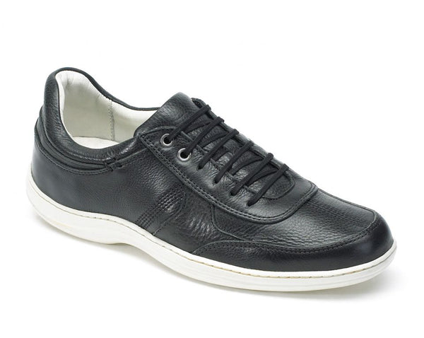 Anatomic Feliz Full Grain Black Leather Trainer Shoes