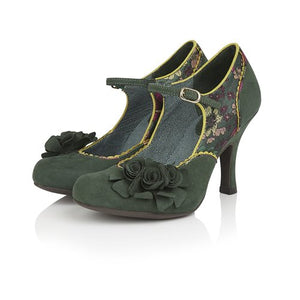 Ruby Shoo Ashley Green Floral Heels - elevate your sole