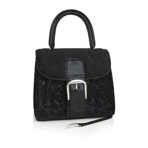 Ruby Shoo Riva Black Velvet Clutch Shoulder Bag - elevate your sole