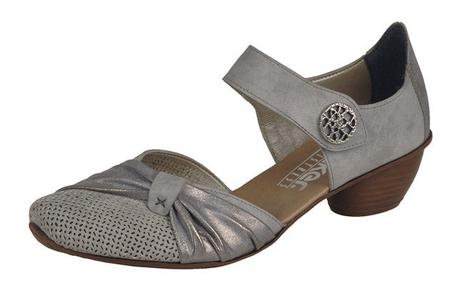 Rieker 43721-41 Grey Combination Summer Shoes - elevate your sole