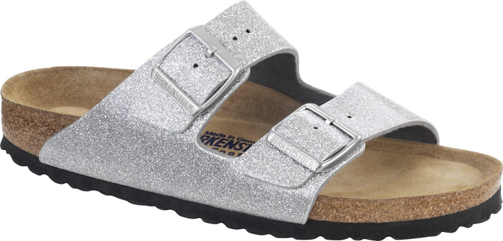Size 36 (UK3) Only - Birkenstock Arizona Magic Galaxy Silver Narrow Sandals
