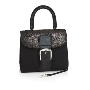 Ruby Shoo Riva Nero Clutch Shoulder Bag