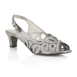 Lotus Harper Pewter & Snake Print Leather Sandals - elevate your sole