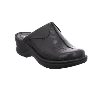Josef Seibel Catalonia 48 Black Leather Mules - elevate your sole