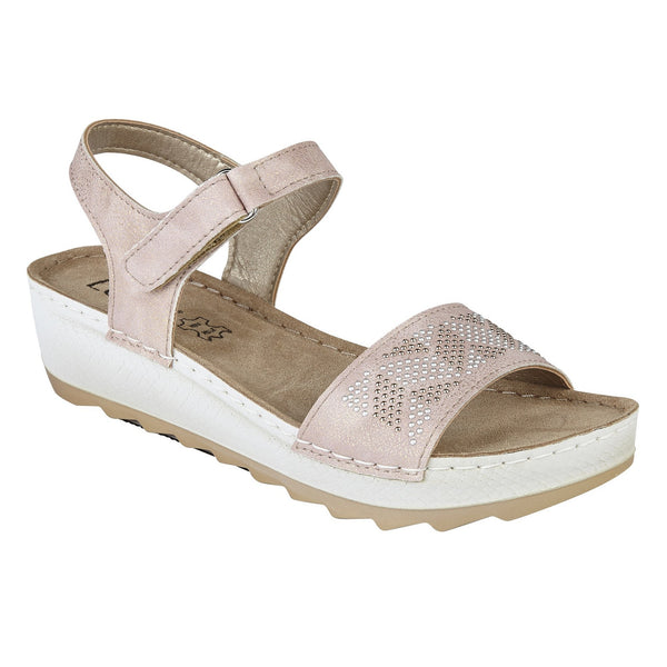 Lotus Massari Pink Wedge Sandals