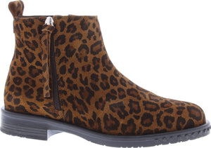 Adesso A5565 Mya Ladies Leopard Print Suede Leather Ankle Boots