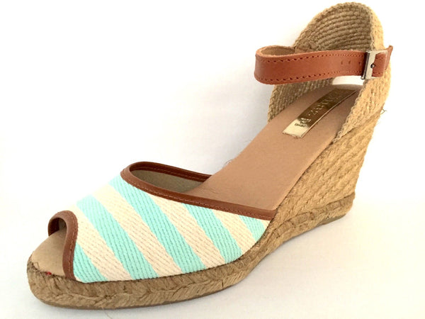 Pinaz Lona Nautical Stripe Espadrille Sandals