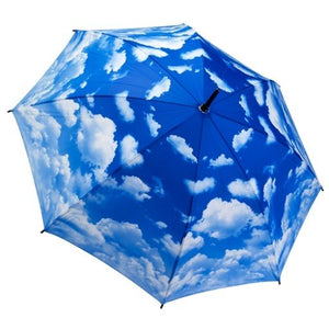 Galleria Umbrella Clouds Folding Brolly - elevate your sole