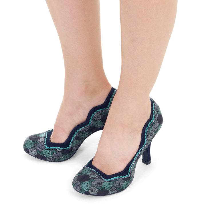 Ruby Shoo Madison Blue Court Shoes
