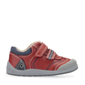 Start-Rite Tough Bug FST 0754-1 Boys Red Leather Rip Tape Fastening Shoes G Fit - elevate your sole