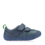 Start-Rite Baby Leo 0747-2 Boys Blue Leather Pre-Walker Shoes - elevate your sole