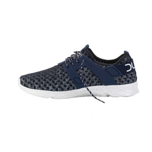 Dude Mistral Navy Melange Ladies Lace Up Trainers - elevate your sole