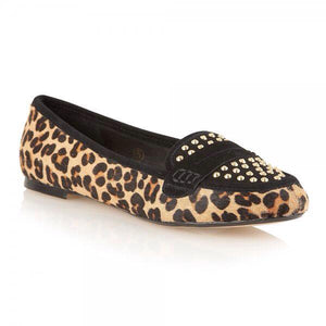 Size 3 Only - Ravel Mariah Leather Leopard Loafers - elevate your sole