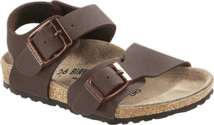 Birkenstock 87783 New York Kids BFBC Mocha Buckle Sandals