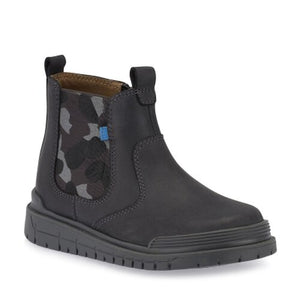 Start-Rite Boost 1701-05 Boys Dark Grey Leather Boots G Fit