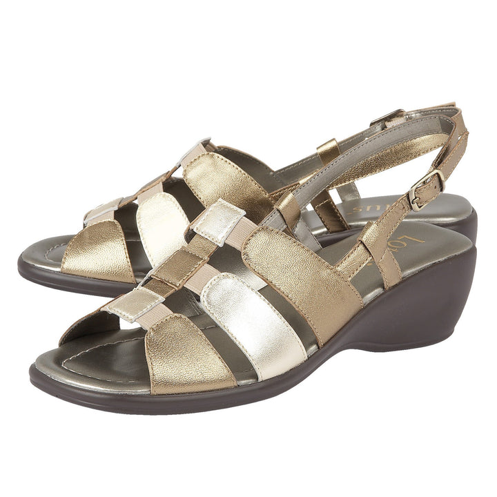 Lotus Lantic Bronze Leather Sling Back Sandals - elevate your sole