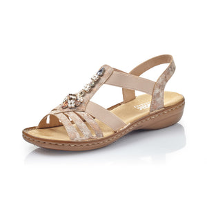 Rieker 60855-31 Ladies Rosa T-Bar Sandal